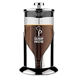 French Press Coffee & Tea Maker | 8 Cups (34 Oz) - Guaranteed Perfect Cup Every Time - Stainless Steel & Heat-Resistant Borosilicate Glass - Makes the Perfect Gift by Culinary Prestige