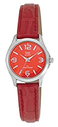 Q&Q Regular Analog Orange Dial Womens Watch - C193J305Y