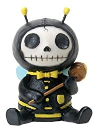 1 X Furrybones? Sitting Buzz Skull Face in Bee Costume with Hood and Honey by Summit
