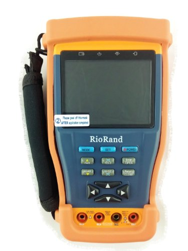 "Riorand (Tm) Cctv Tester, 3.5""Tft-Lcd, Digital Multimeter, Video Level Testing, Ptz Controller, Dc12V 1A Power Out For Camera, All In One Cctv Test Monitor"