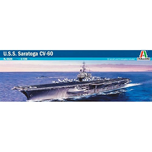 USS Saratoga CV60 Aircraft Carrier 1/720 Italeri (Aircraft Carrier Model Kits compare prices)
