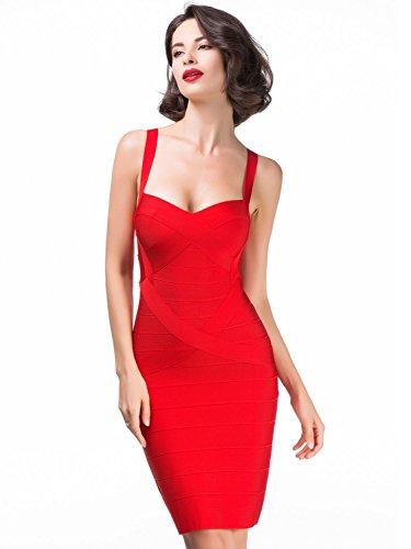 Alice-Elmer-Womens-Rayon-Bodycon-Strap-Sleeveless-Bandage-Dress