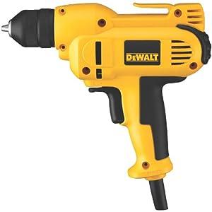 DEWALT DWD115K 8 Amp 3/8-Inch VSR Mid-Handle Grip Drill Kit with Keyless Chuck