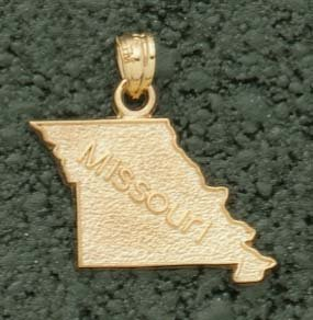 State of Missouri Pendant - 10KT Gold Jewelry
