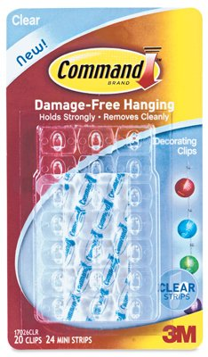 3M Command Decorating Clips, Clear