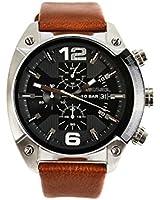 Diesel DZ4296's Watch Quartz Chronograph Brown Leather Strap