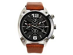 Diesel Overflow luminescent hands Chronograph Black Dial Mens Watch - DZ4296