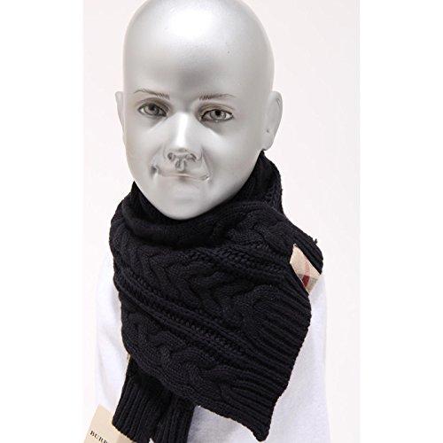 4302F sciarpa blu BURBERRY COTONE LANA accessori bimbo bimba scarf kids unisex [0]