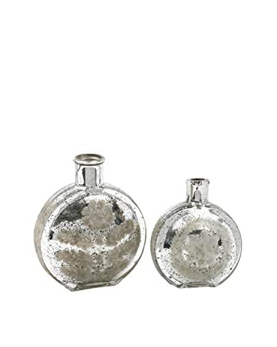 Set of 2 Silver Canteen Vases