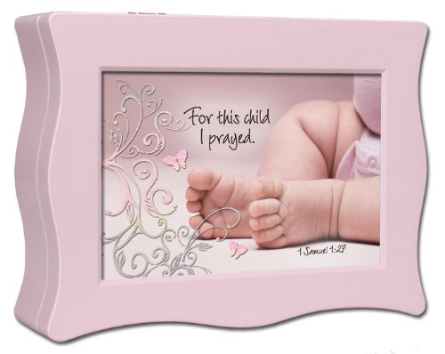 Cottage Garden 09483X Music Box Baby Feet With Scripture Jesus Loves Me Wavy Pink