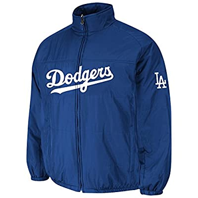 Los Angeles Dodgers Royal Double Climate On-Field Jacket by Majestic
