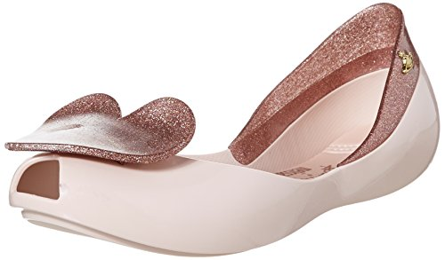 [Vivienne Westwood]Vivienne Westwood Women's Queen Flat, Pale Pink/Glitter, 8 M US (Click to Search!)
