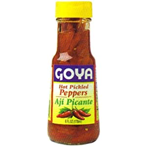 com : Goya Red Hot Pickled Peppers - Aji Picante 6 oz : Chile Peppers