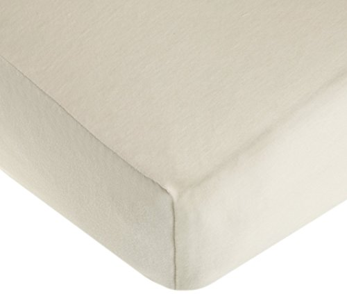 TL Care 100% Cotton Flannel Fitted Crib Sheet, Ecru
