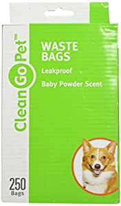 Clean Go Pet 250 Count Baby Powder Scented Waste Bag for Dogs and Cats