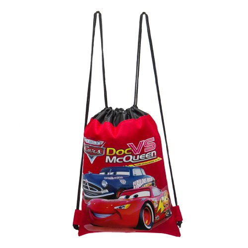 Disney Cars Red Drawstring Bag - 1