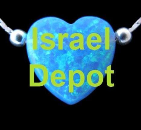 Blue Opal Heart Pendant 925 Silver Chain Necklace
