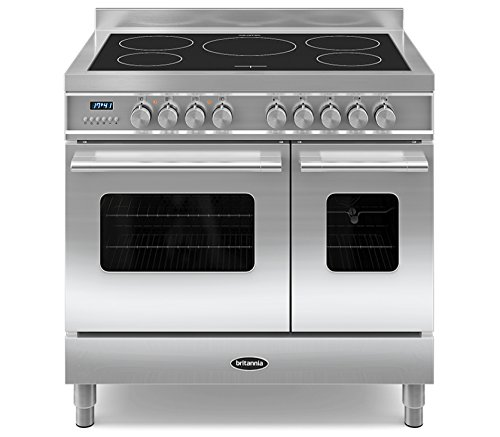 Britannia RC-9TI-DE-S Delphi 90cm Tw Induction Range Cooker