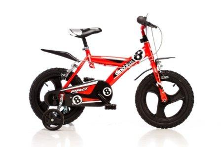 DINO Sport Bikes 163 GLN 16 pouce, Bicicleta de niño, Kidsbike , bicicleta, bicicleta del niño , la bici, velocípedo , bicicleta , ciclismo Roja, estabilizadores, guardabarros • 16 pulgadas 4-7 años 105-135cm 47-55cm elevación del asiento