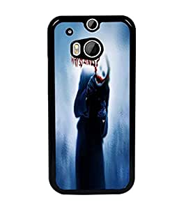 PrintDhaba Joker D-4845 Back Case Cover for HTC ONE M8 (Multi-Coloured)