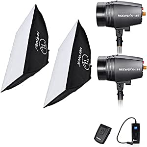 """Neewer® 360W(180W x2) 5600K Photography Studio Flash Strobe Light Lighting Kit with (2)20x28""""/50x70cm Softbox &(1)RT-16 Trigger for Video Shooting,Location and Portrait Photography"""