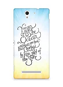 AMEZ you can never cross the Ocean Back Cover For Sony Xperia C3 D2502