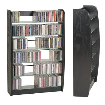 Ebony Wood Technology CD DVD Wall Rack Media Storage