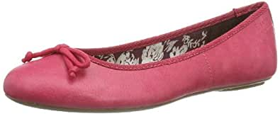 ESPRIT  Aloa Bow, Ballerines pour femme - Rose - Pink (tropical fuchsia 667), 42 EU