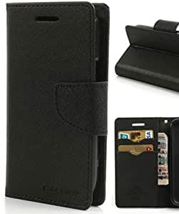 Mercury Flip Wallet Diary Card Case Cover for Motorola Moto E-Black