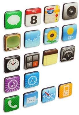 niceEshop(TM) Phone Icons App Fridge Refrigerator Magnets