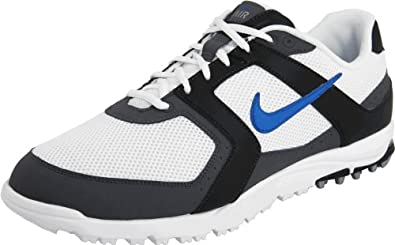 Nike Golf Men's Nike Air Range WP Golf Shoe,White/Blue Spark/Black,7 M US