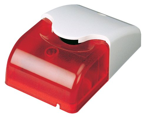 Cop Security 15-560M Mini Strobe Siren With Red Led Light Dc 12V (White & Red)