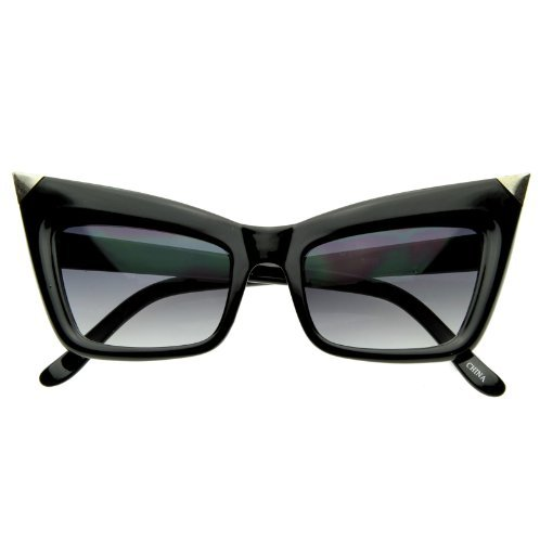 Super Cateye NYC Designer Inspired Fashion Cat Eye Sharp High-Pointed Sunglasses