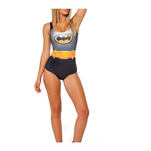 YMXING Women's Vacation One Piece Swimsuit Maillot Batman