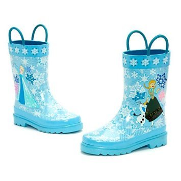 Autentica Disney - Congelato Rain Boots For Kids - Caratteristiche Elsa e Anna - Taglia UK 9E EU Taglia 27