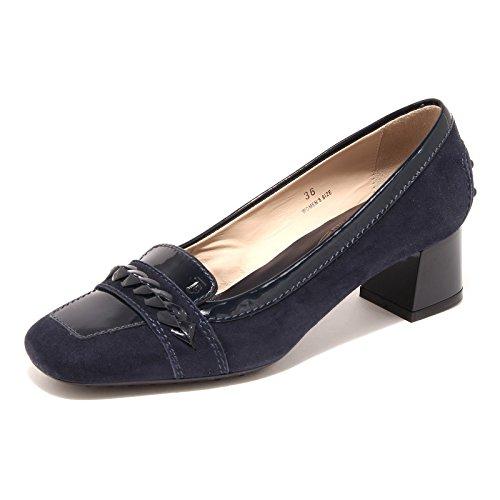 42933 decollete blu TOD'S scarpa donna shoes women [38]