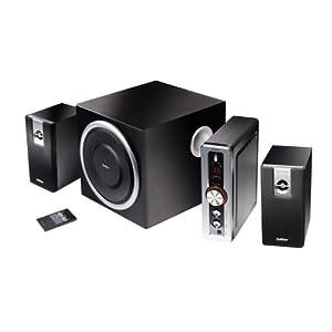 Edifier C2 Plus, 2.1-Soundsystem mit 2x 9W Satelliten und 1x 35W Subwoofer, inklusive Fernbedienung, schwarz