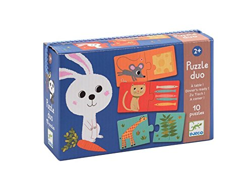 Djeco Dinner's Ready! Duo Puzzle (10 Puzzles/20 Pieces)