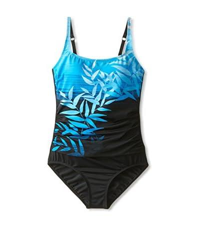 Jantzen Women's Square Neck One-Piece Swimsuit