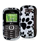 Dog Paw Design Crystal Hard Skin Case Cover for LG Octane VN530 Phone New B ....