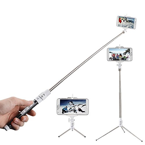 ecandy multi function bluetooth selfie stick with remote shutter zoom button extendable handheld. Black Bedroom Furniture Sets. Home Design Ideas