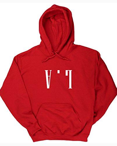 hippowarehouse-la-upside-down-unisex-hoodie-hooded-top