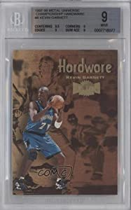 Kevin Garnett BGS GRADED 9 Minnesota Timberwolves (Basketball Card) 1997-98 Metal... by Metal Universe Championship Preview