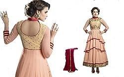 Majisavision Women's light pink georgette dress