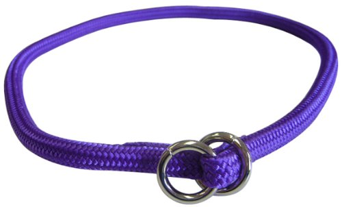 Hamilton 829 PU 5/16-Inch by 20-Inch Round Braided Choke Nylon Dog Collar, Purple