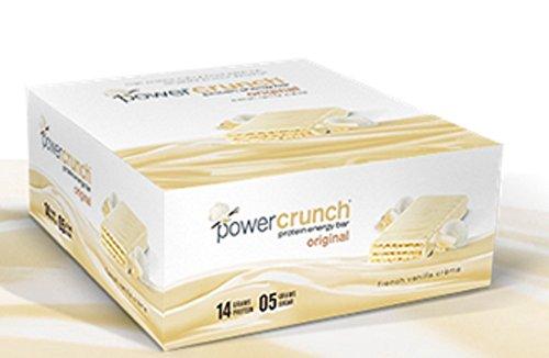 Power Crunch - Power Crunch Bar - French Vanilla Cream -12 bars of 1.4oz ea (Power Crunch Energy Bars compare prices)