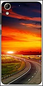 Snoogg The Way To Sunset Designer Protective Back Case Cover For HTC Desire 728
