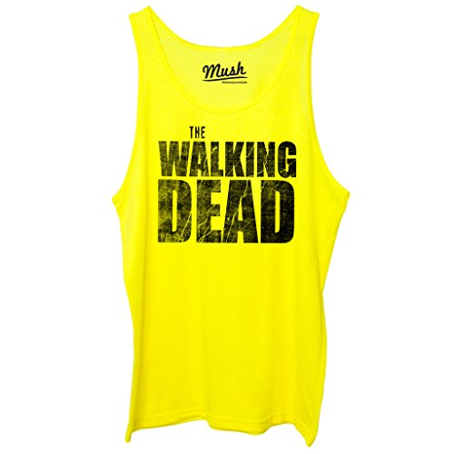 Canotta THE WALKING DEAD THE GRUNGE TITLE - FILM by Mush Dress Your Style - Donna-XL-Gialla