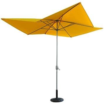 Cool Outsunny u Outdoor Aluminum Square Patio Market Umbrella Yellow