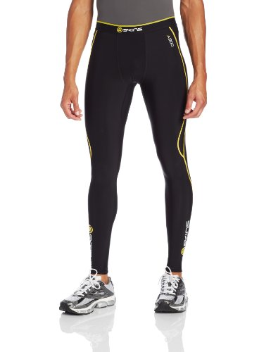 skins-herren-a200-thermal-mens-long-tights-black-yellow-s-b60052111s